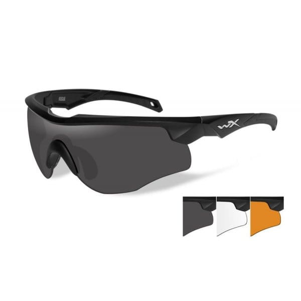 Okulary WX Rogue Grey/Clear/Light Rust Matte - Black Frame - cienka oprawka