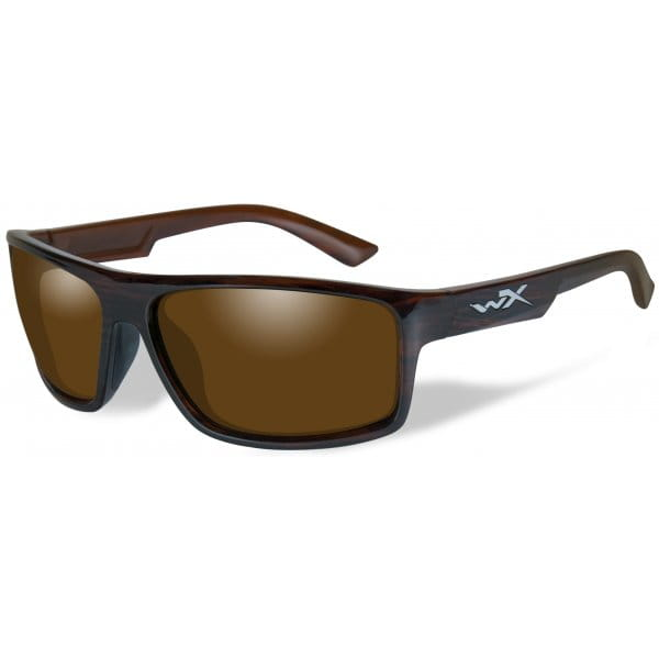 Okulary WX Peak Polarized Amber Gloss Layered Tortoise Frame