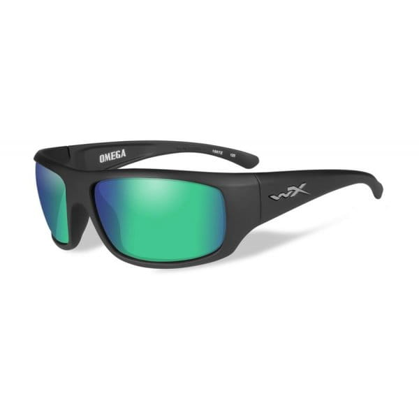 Okulary Wiley X OMEGA Polarized Emerald Mirror Matte Black Frame