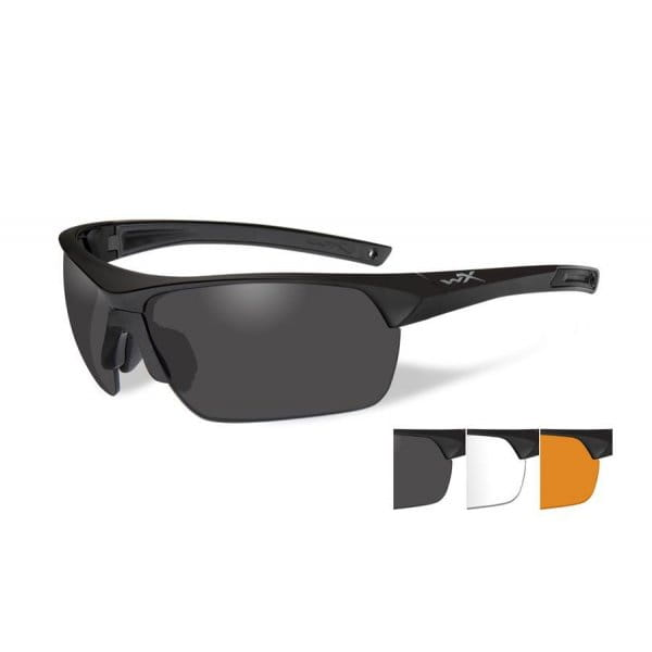Okulary WX Guard Adv. Smoke/Clear/Light Rust  Matte Black Frame