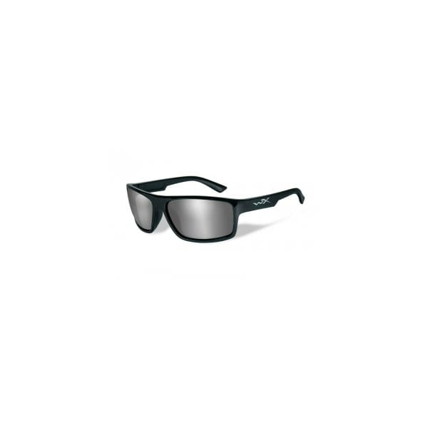 Okulary WX Peak Grey Silver Flash Gloss Black Frame