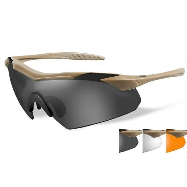 Okulary WX Vapor Grey/Clear/Light Rust
