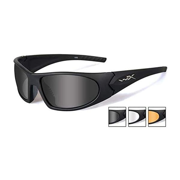 Okulary WX Romer 3 Smoke/Clear/Light Rust Matte Black Frame